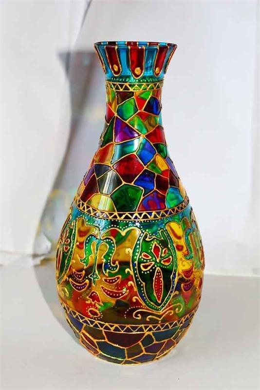 Орнамент на вазе своими руками 66
