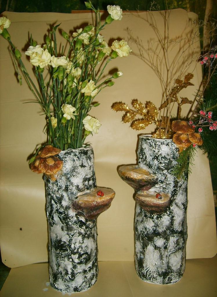 Напольную вазу своими руками папье маше