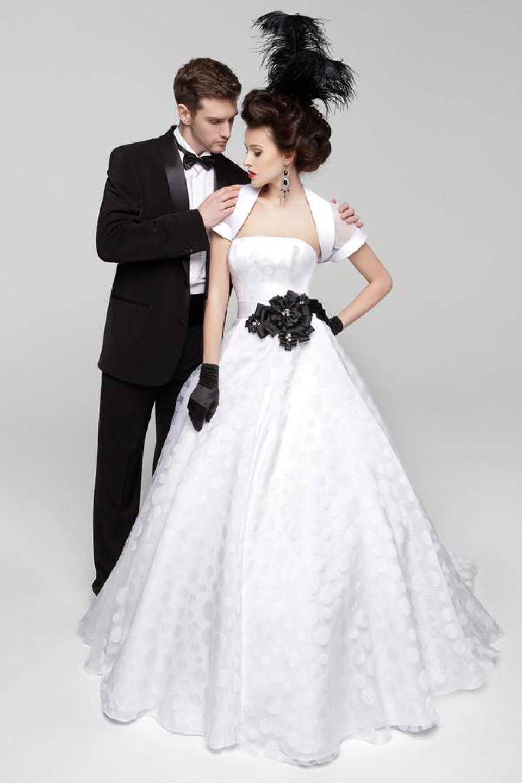 Стильные черно белые фото свадьбы