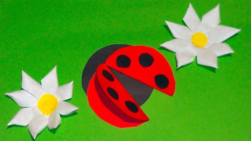Для детей 3 лет поделки из цветной бумаги