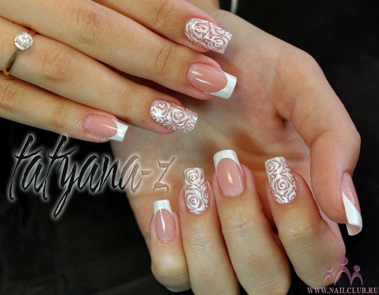 Свадебные дизайны на натуральных ногтях
