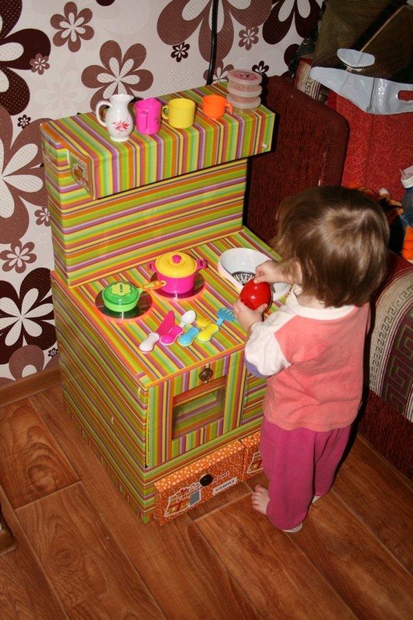 Детские кухни для девочек из картона своими руками 76