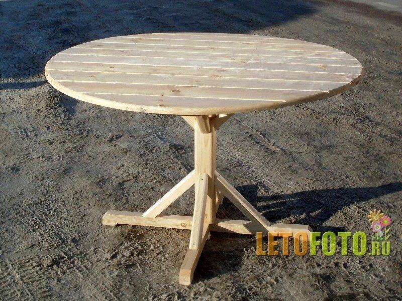 Как сделать стол круглый из дерева 744
