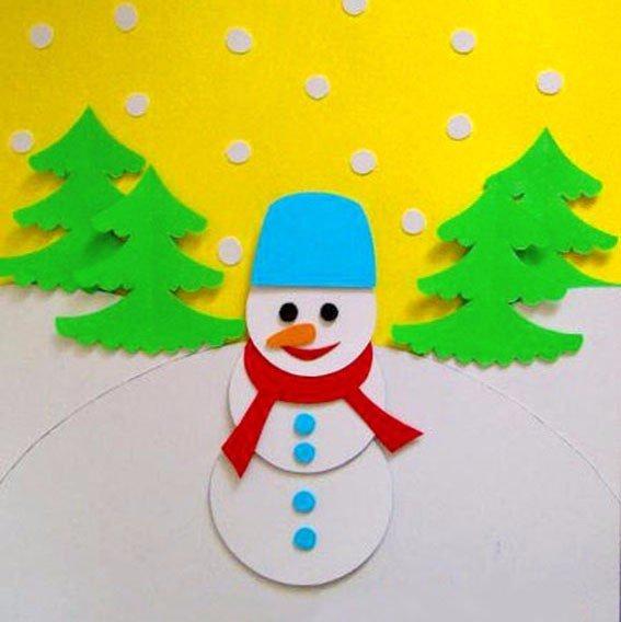 Зимние поделки из бумаги и картона
