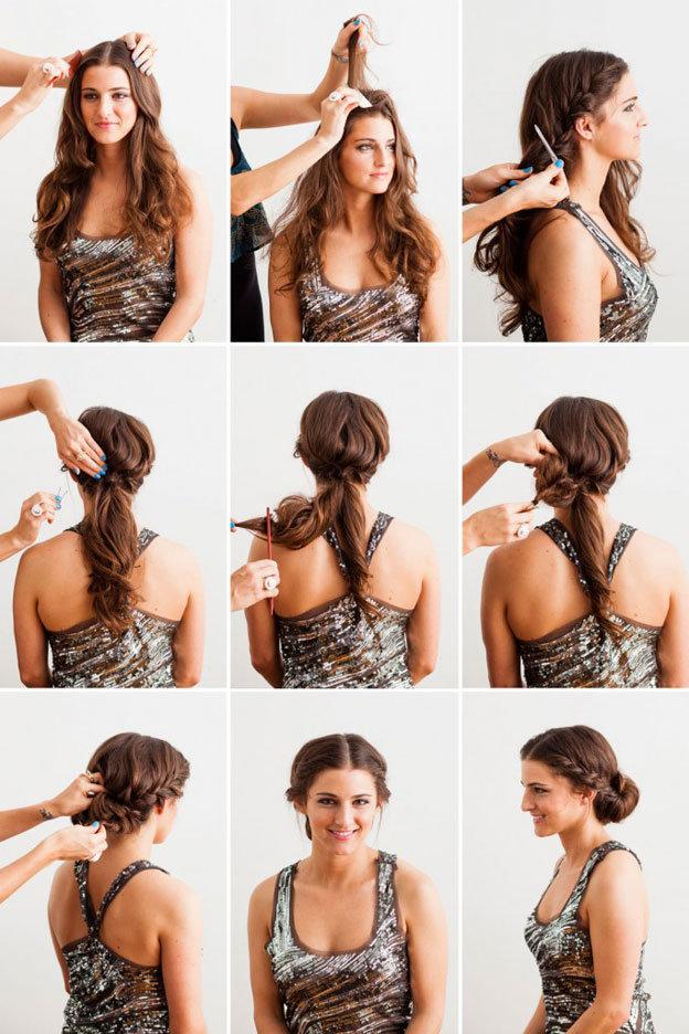 Как красиво собрать волосы в домашних условиях пошагово в