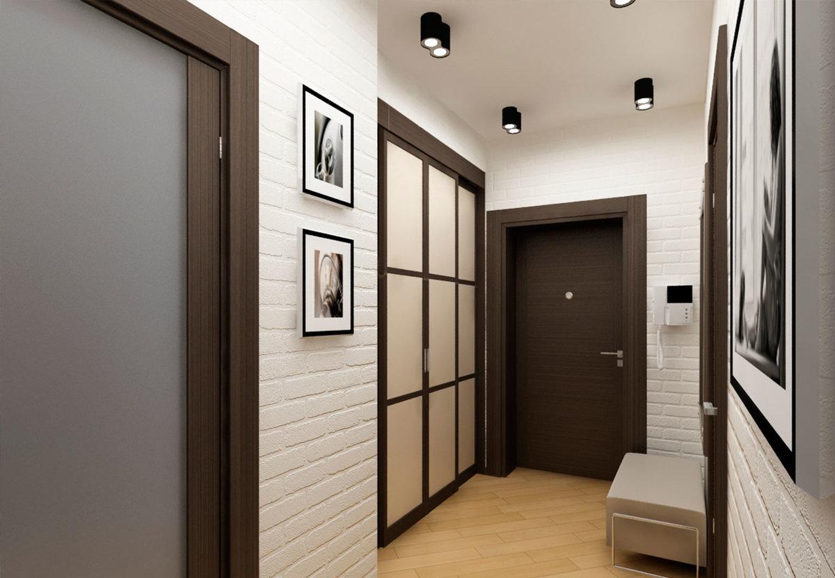 Маленький квадратный коридор дизайн
