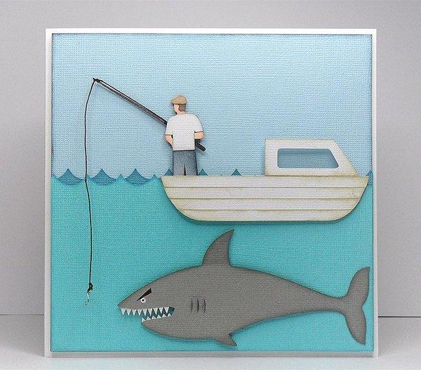 Открытку папе рыбаку на день рождения своими руками