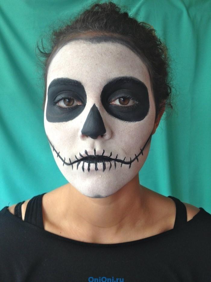 Фото лёгкого макияжа на хэллоуин