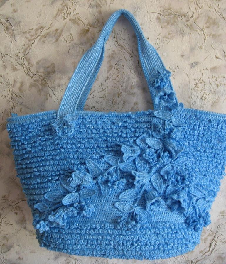 Вязание из пакетов крючком сумок 953