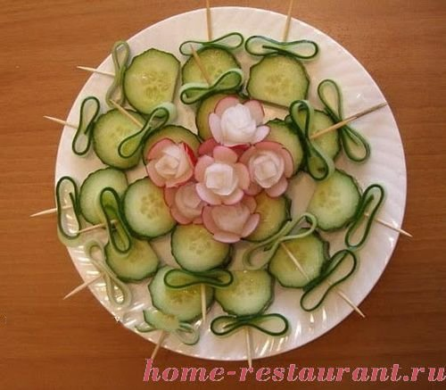 Нарезка из овощей на праздничный стол пошагово