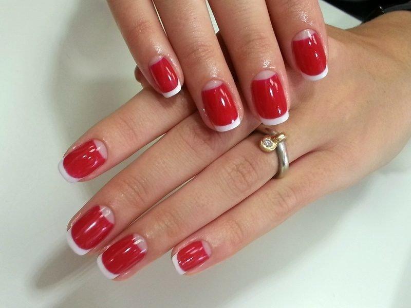 Фото красивые красные ногти
