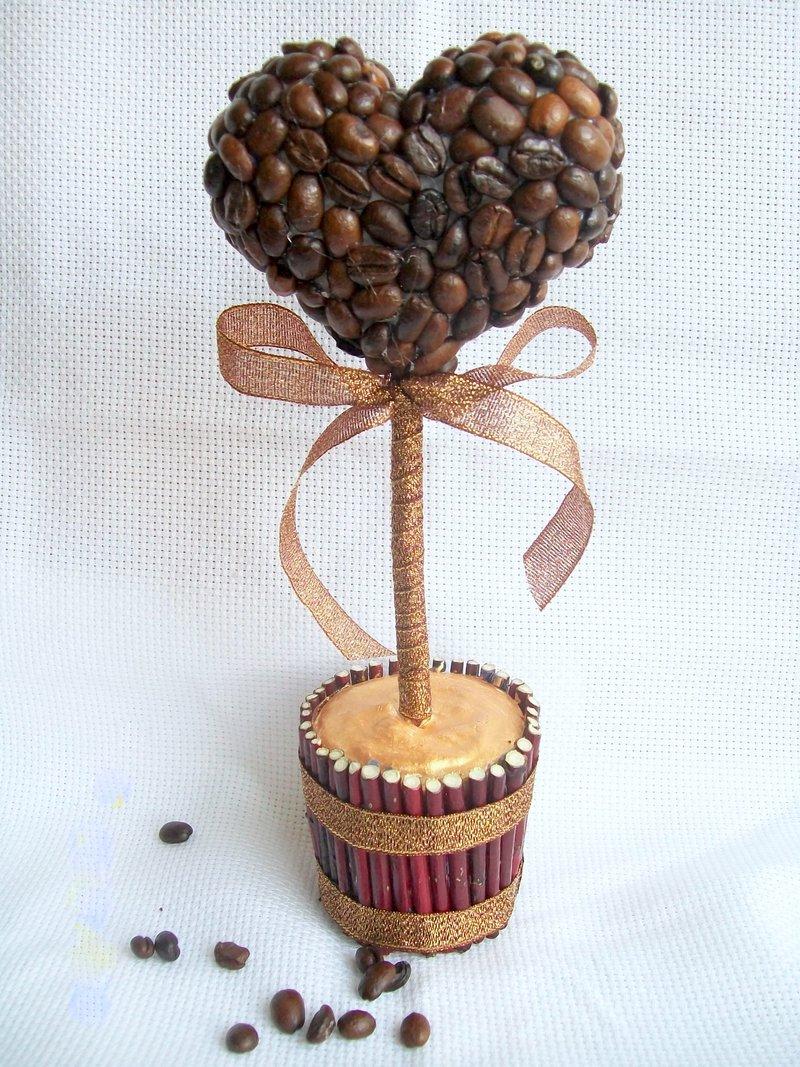 Топиарий из зёрен кофе 4