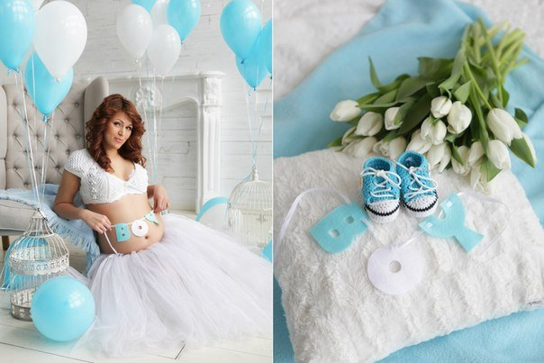 Декорации для фотосессии беременных 97