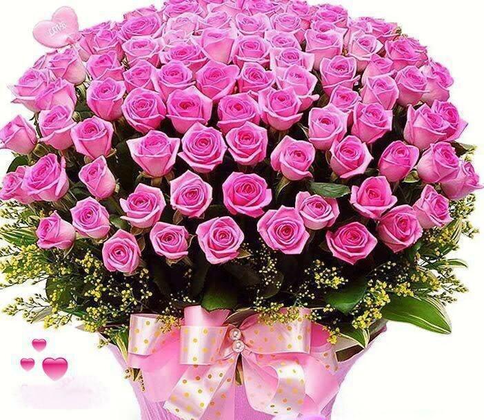 Поздравление с днем рождения букет роз