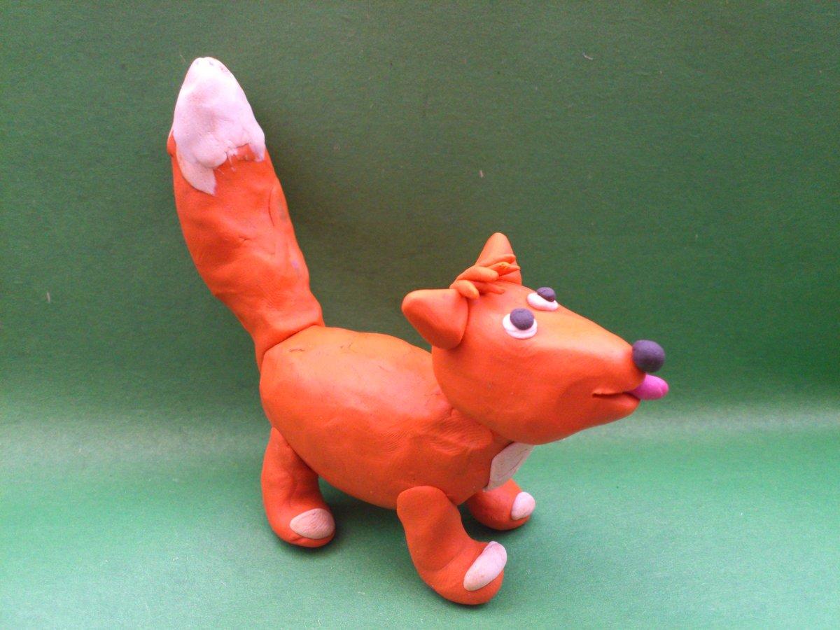 Лисичку своими руками из пластилина