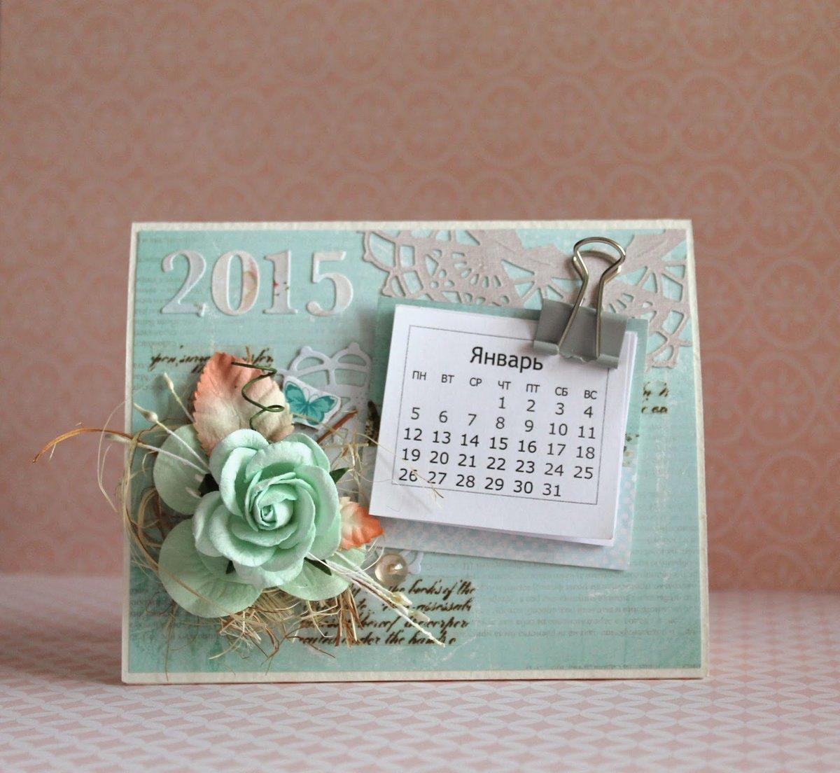 Настольный календарь сделать своими руками 6