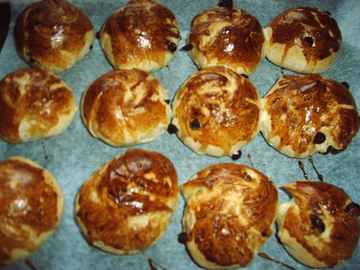 Быстрые булочки с изюмом рецепт