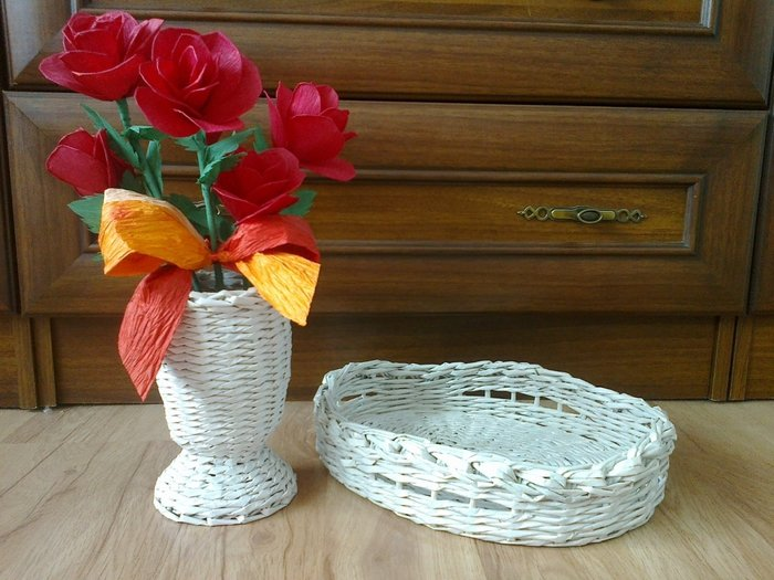 Как из газеты сделать вазу