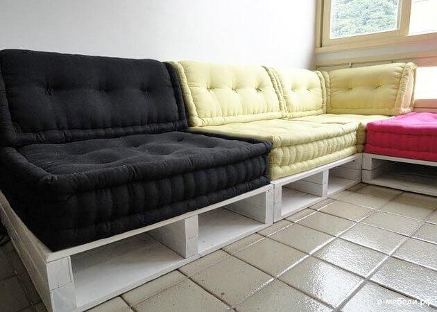 Как сделать диван из самому