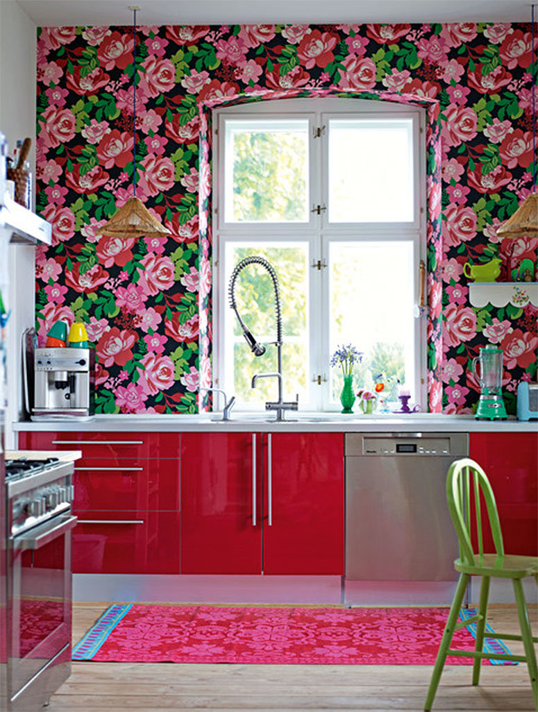 Ремонт на кухне своими руками фотообои