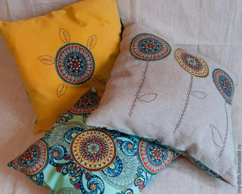 Как подушку сшить на диван 56