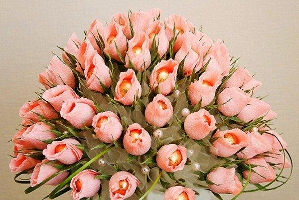 Букеты из конфет розы своими руками пошаговые