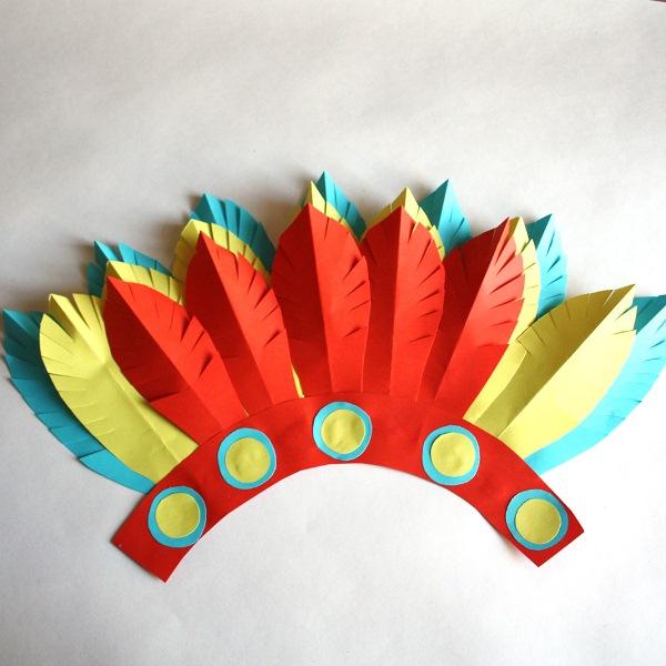 Сделать шапку индейца своими руками 100