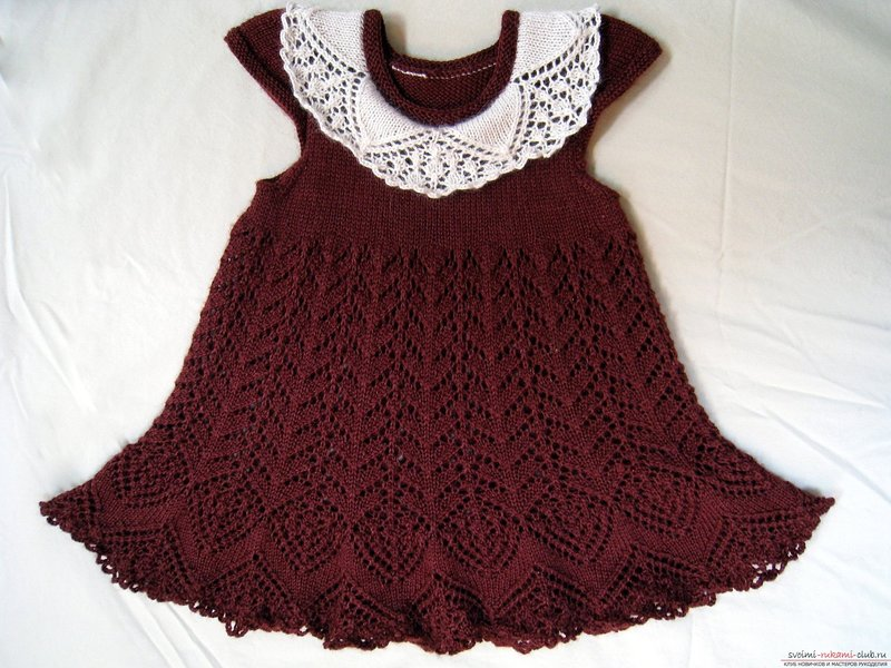 Как связать красивое платье для ребенка