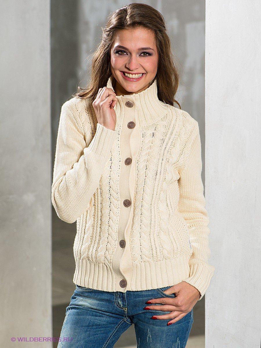 Вязание женских теплых кофт спицами 41