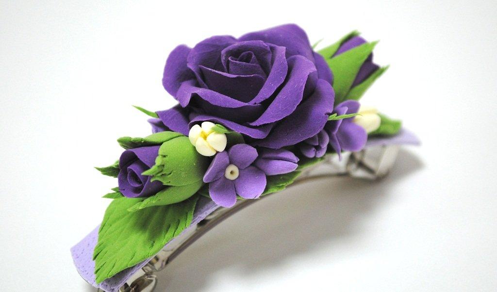 Цветы из фоамирана для заколки своими руками 64
