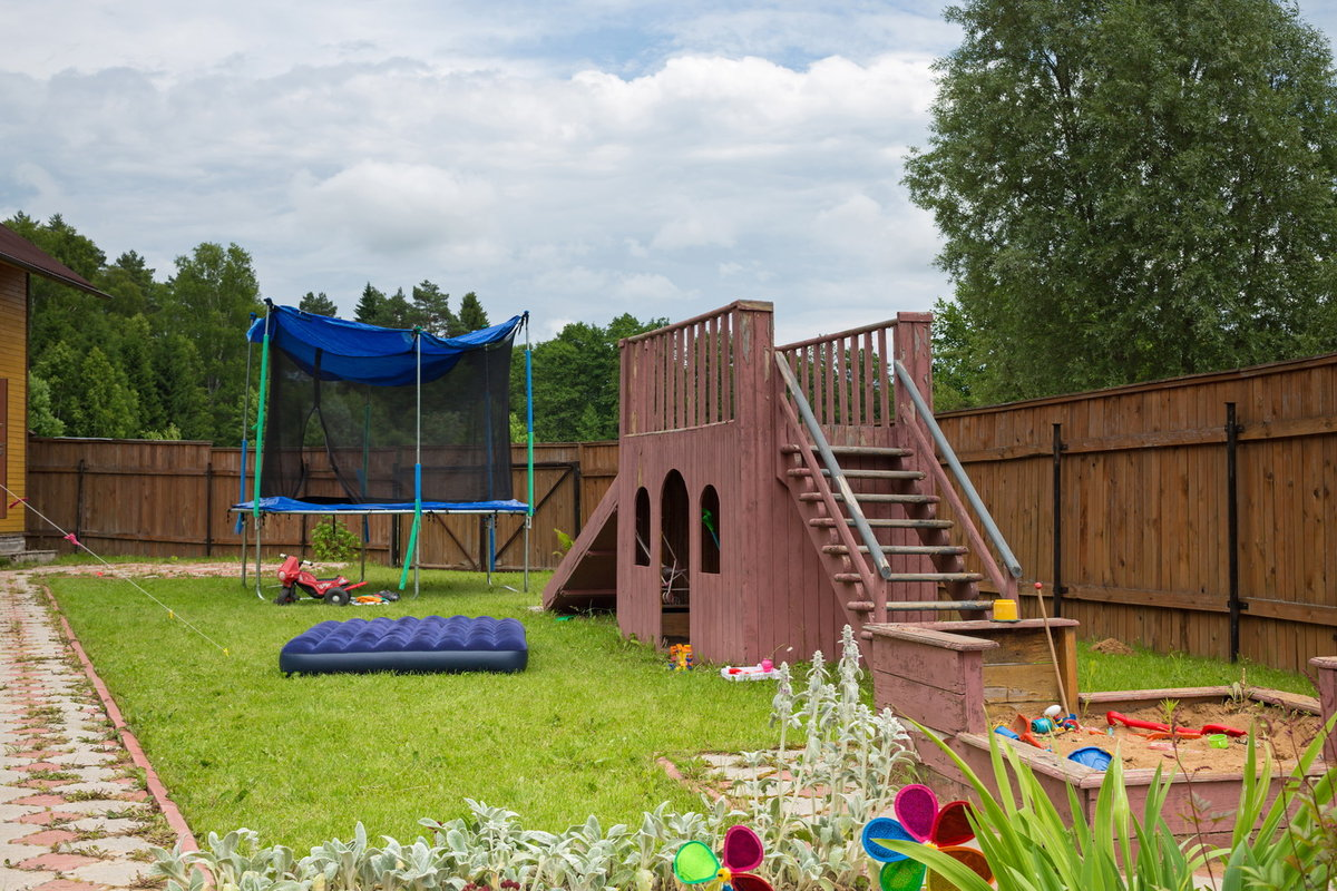 Детская площадка на даче своими руками идеи