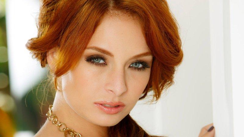 Макияж под рыжий цвет волос