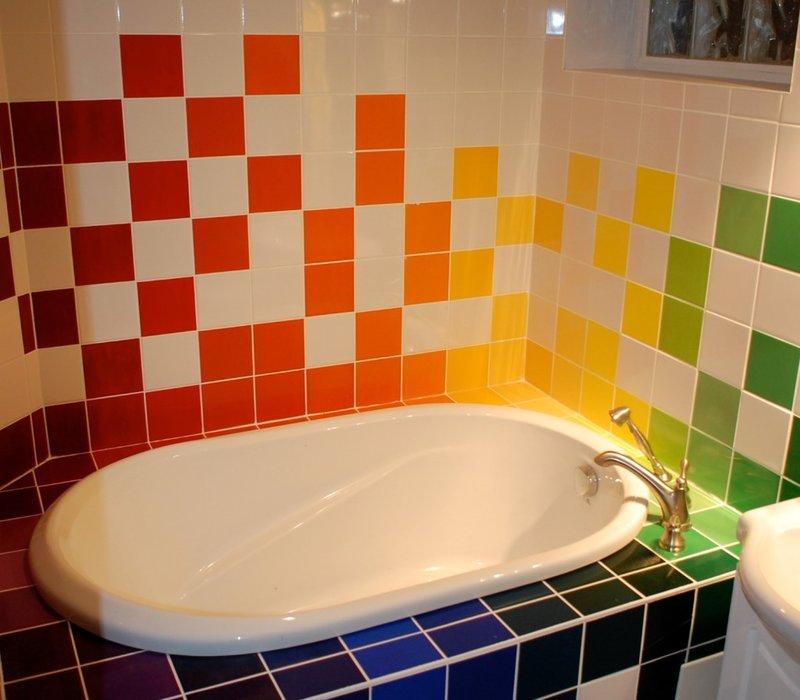 Ванная комната дизайн цветная