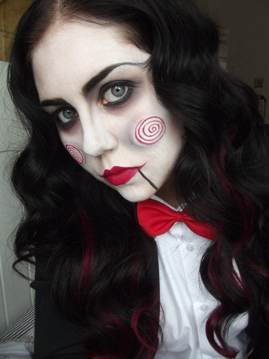 Макияж на хэллоуин для девушек своими руками 65