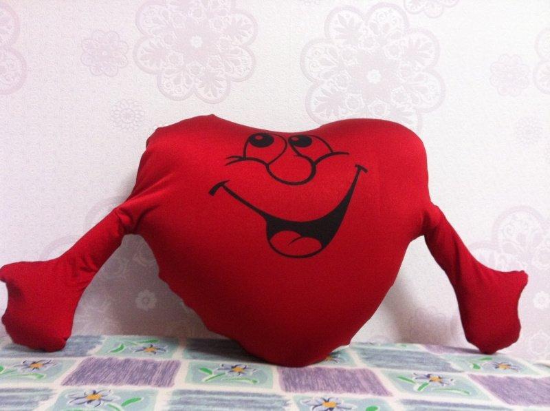Подушка сердечки своими руками 56