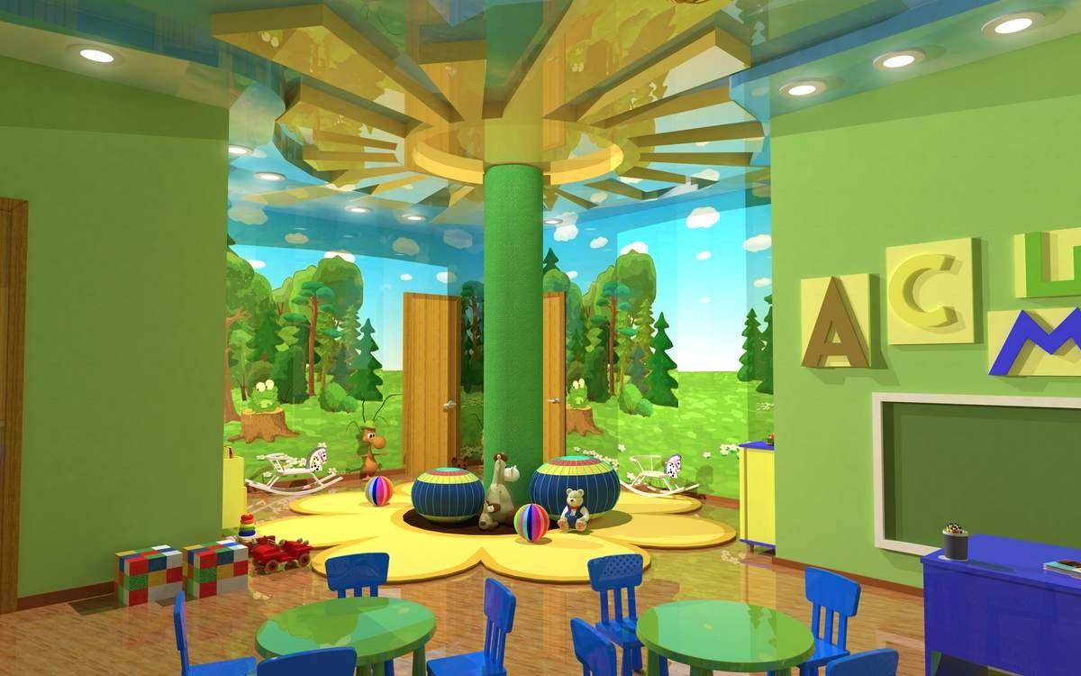 Дизайн проект игровой комнаты в детском саду