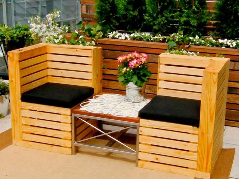 Дачная мебель из ящиков