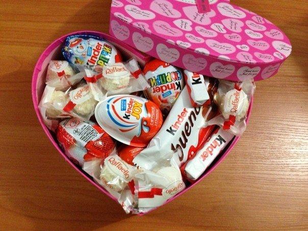 Подарок в виде сладостей