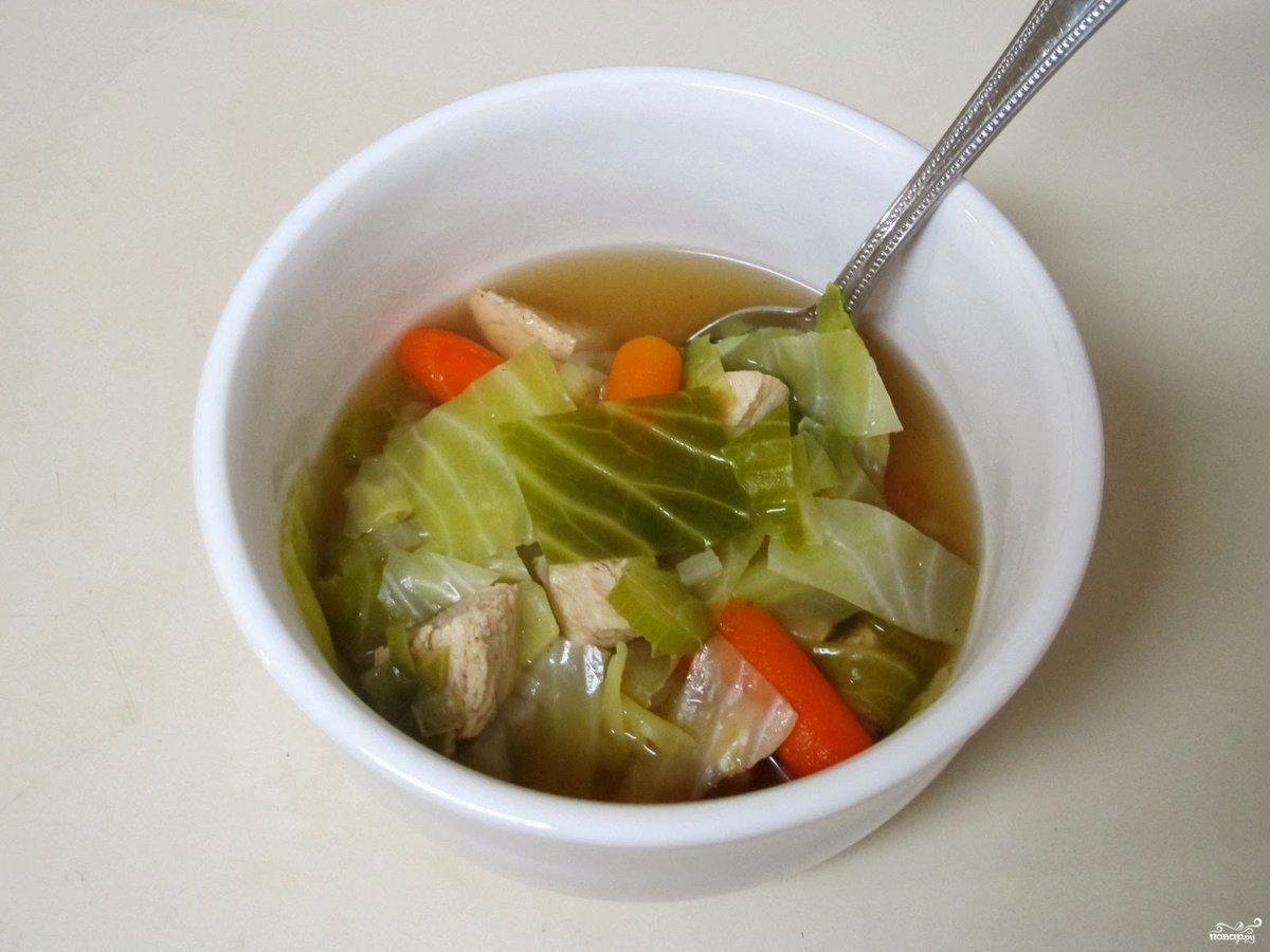Суп с капустой на курином бульоне рецепт пошагово