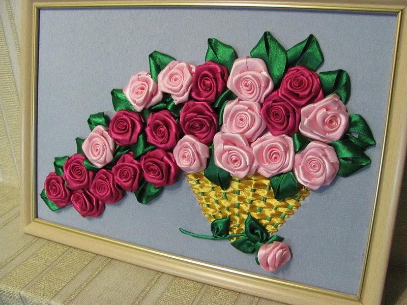 Как сделать картину из роз своими руками 506