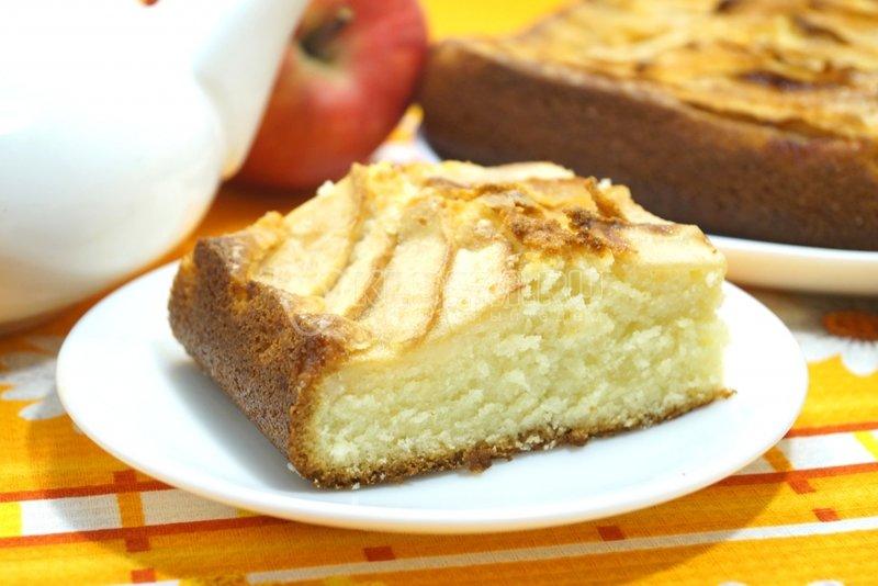 Сухая шарлотка с яблоками рецепт