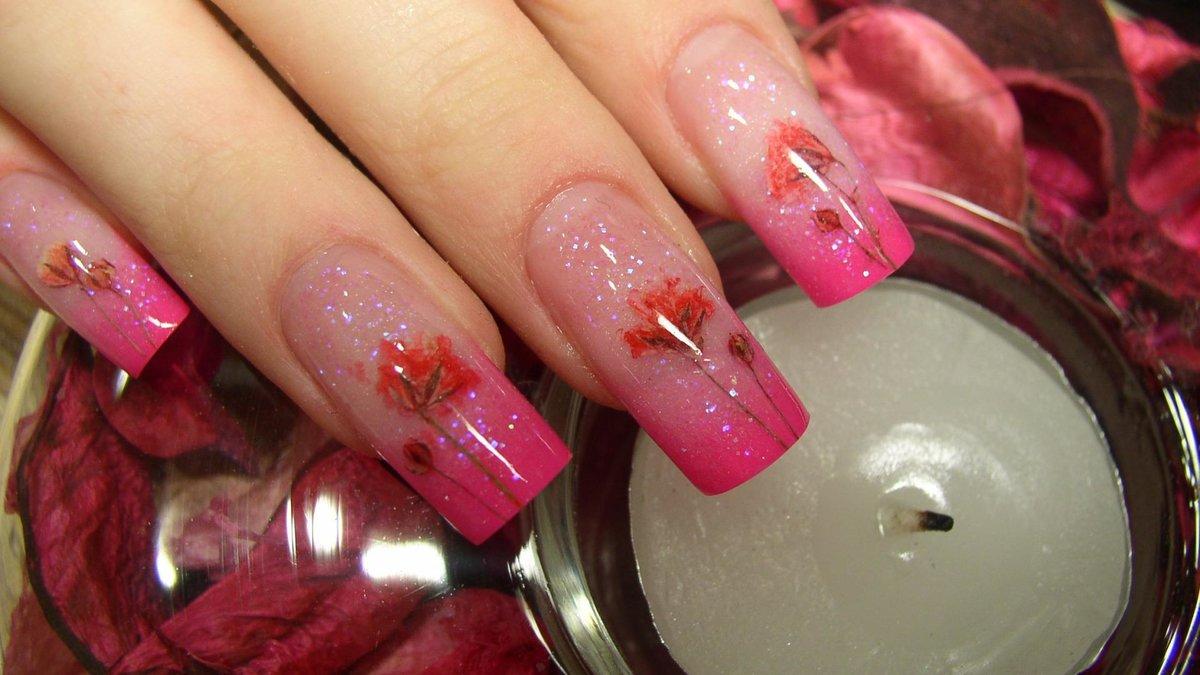 Нарастить ногти в домашних условиях акрилом