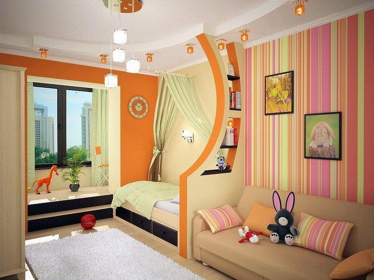 Дизайн интерьера детской комнаты для двоих дизайн