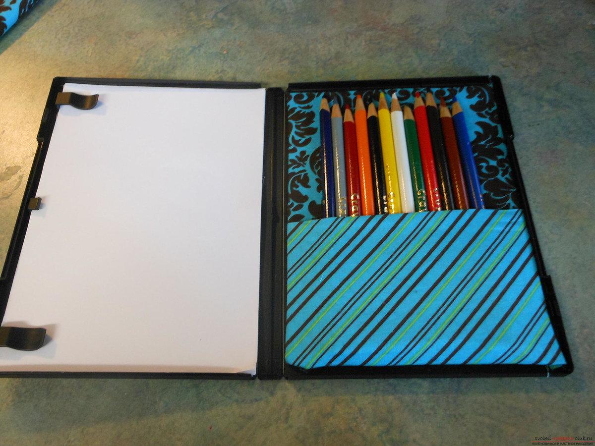Коробка для карандашей своими руками из коробки 626