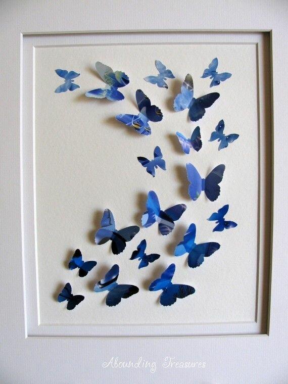 Бабочки в рамке на стену своими руками 60