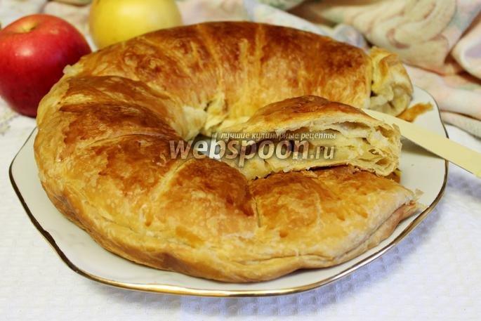 Рулет с яблоками из слоеного теста пошаговый рецепт с