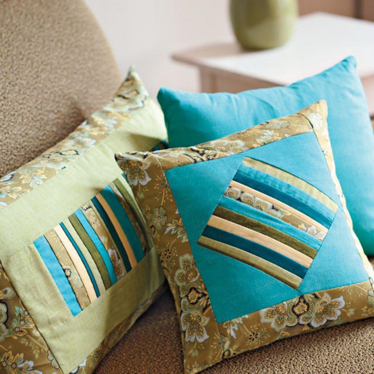 Сшить чехлы на подушки от дивана своими руками8