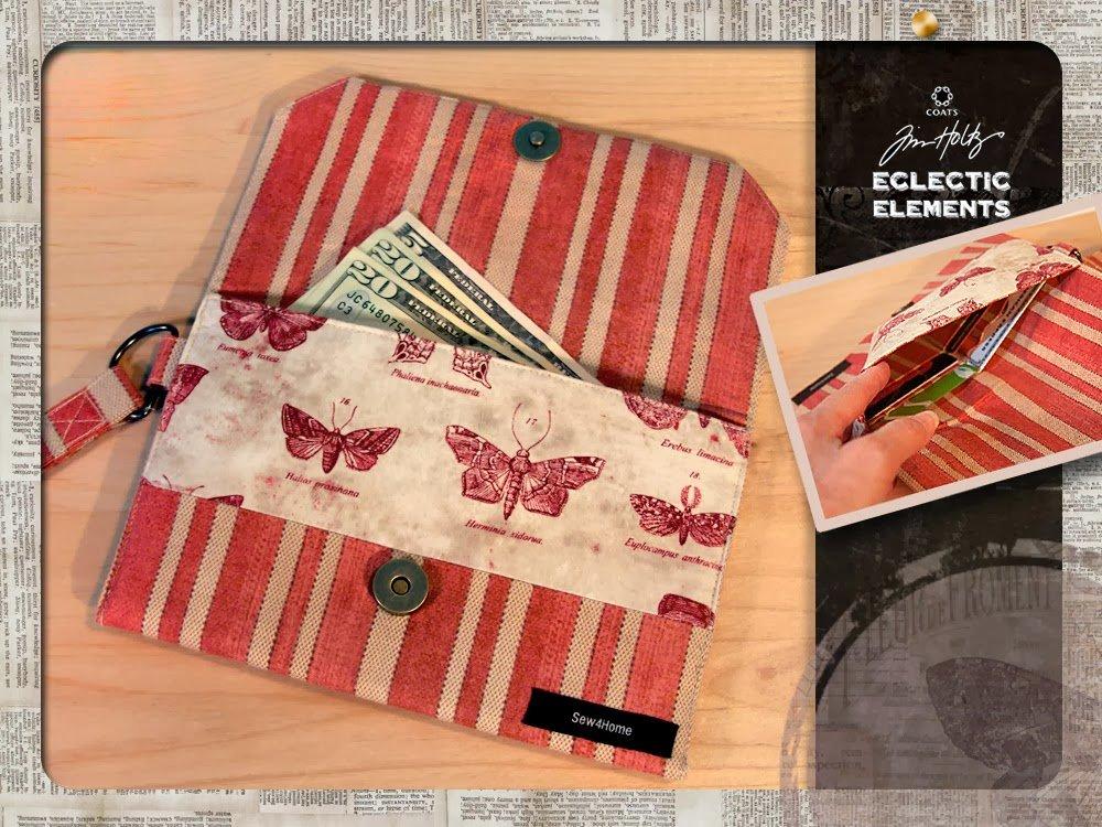 Бумажник из ткани своими руками 70