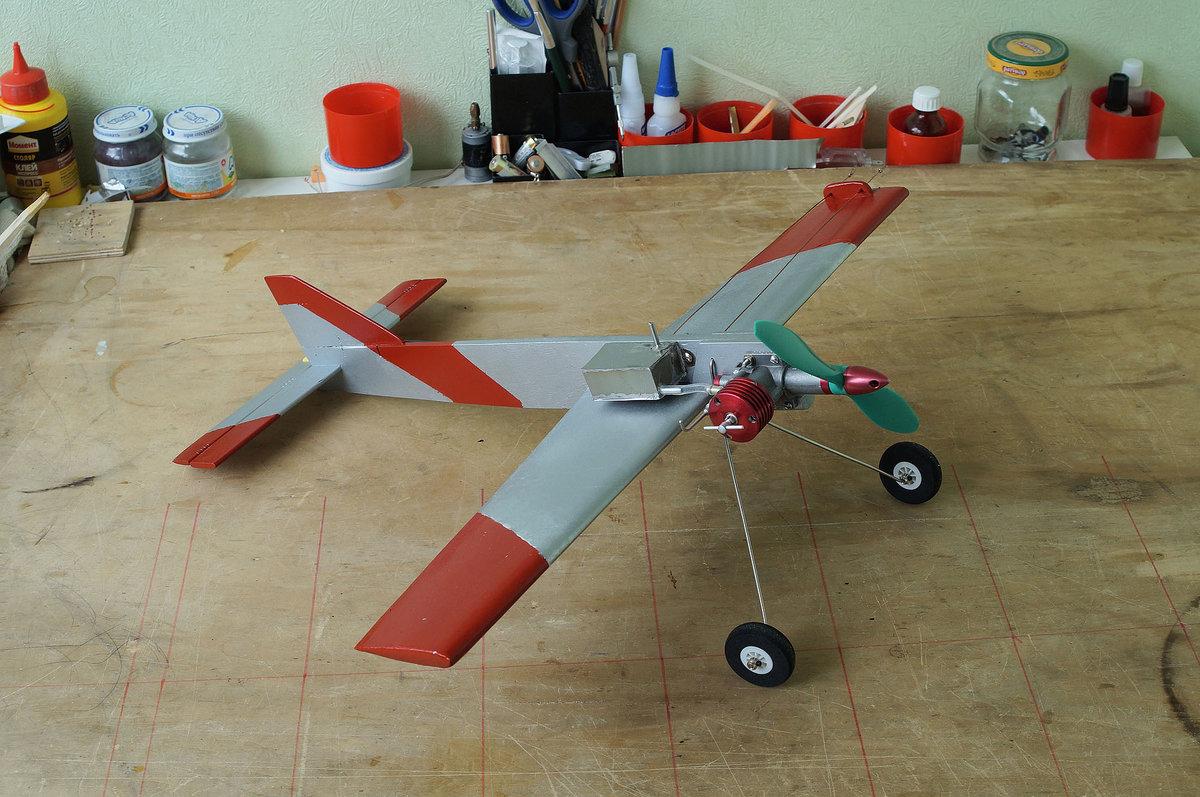Кордовая модель самолета с электродвигателем своими руками 23