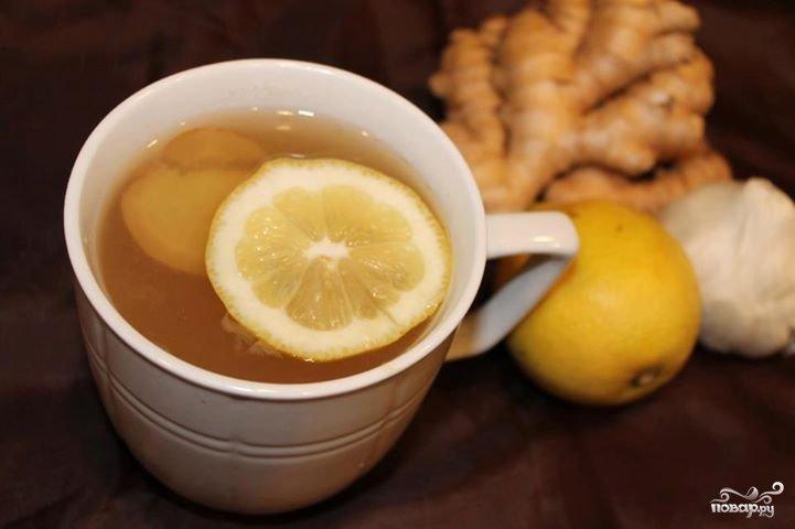 Чай с имбирем для похудения и чесноком